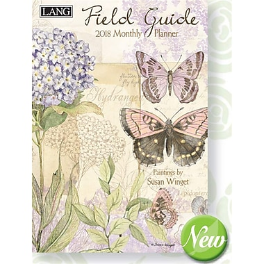 Lang 2018 Field Guide Monthly Planner, 13 Month Format. January 2018- January 2019