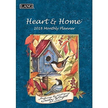 Lang 2018 Heart & Home Monthly Planner, 13 Month Format. January 2018- January 2019