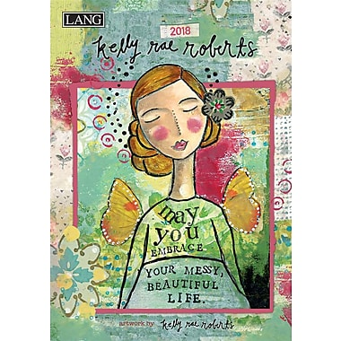 Lang 2018 Kelly Rae Roberts Monthly Planner, 13 Month Format. January 2018- January 2019