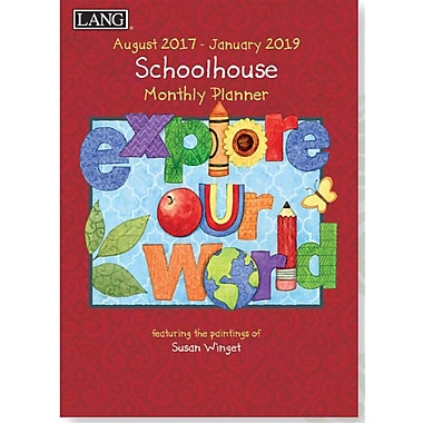 Lang 2018 School House Monthly Planner, 13 Month Format. January 2018- January 2019