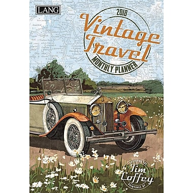 Lang 2018 Vintage Travel Monthly Planner, 13 Month Format. January 2018- January 2019