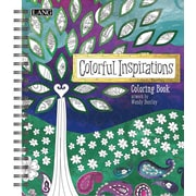 Lang Colorful Inspirations Hard Covered Spiral Bound Coloring Book