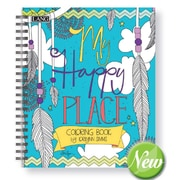 Lang My Happy Place Hard Covered Spiral Bound Coloring Book