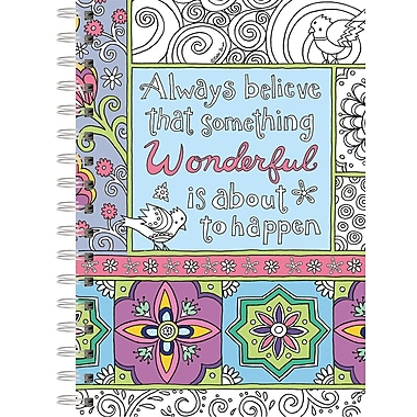 Lang Believe In Wonderful Spiral Bound, Hard Cover Coloring Journal