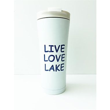 Premier Gift 17 oz Live Love Lake Manhattan 18/8 Stainless Steel Construction, Double Wall, Vaccuum Insulated Tumbler
