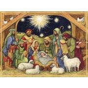 Lang – Boîte de cartes de Noël à illustrations en couleur à l'intérieur et à l'extérieur « Adore Him »