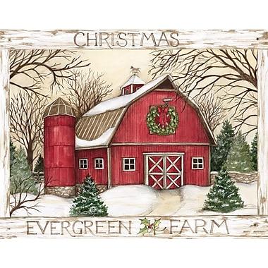 Lang – Boîte de cartes de Noël à illustrations en couleur à l'intérieur et à l'extérieur, ferme Evergreen