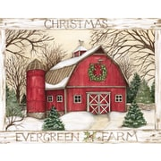 Lang Evergreen Farm Boxed Christmas Cards Full Colour Artwork Inside & Out