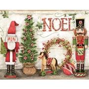 Lang – Boîte de cartes de Noël à illustrations en couleur à l'intérieur et à l'extérieur, casse-noisettes des fêtes