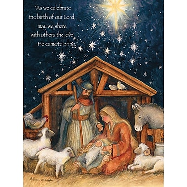 Lang Holy Family Boxed Christmas Cards Full Colour Artwork Inside & Out