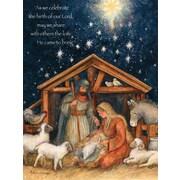 Lang – Boîte de cartes de Noël à illustrations en couleur à l'intérieur et à l'extérieur, famille sainte