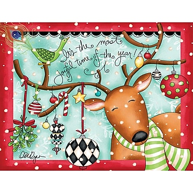 Lang Joyful Reindeer Boxed Christmas Cards Full Colour Artwork Inside & Out