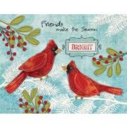 Lang – Boîte de cartes de Noël à illustrations en couleur à l'intérieur et à l'extérieur, Make The Season Bright