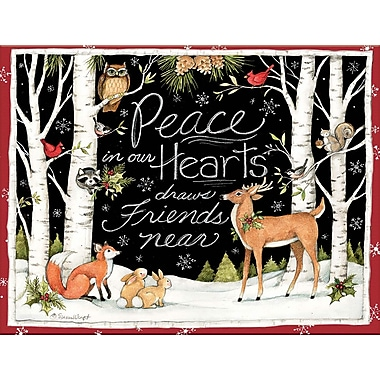 Lang Peace In Our Hearts Boxed Christmas Cards Full Colour Artwork Inside & Out