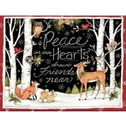 Lang – Boîte de cartes de Noël à illustrations en couleur à l'intérieur et à l'extérieur, paix dans nos cœurs