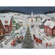 Lang – Boîte de cartes de Noël à illustrations en couleur à l'intérieur et à l'extérieur, Sainte Nuit