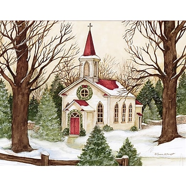 Lang Woodland Church Boxed Christmas Cards Full Colour Artwork Inside & Out