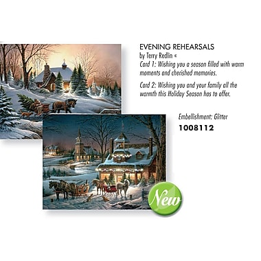Lang Evening Rehearsals 2 Designs, Boxed Christmas Cards