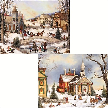 Lang Folk Art Holiday. 2 Designs, Boxed Christmas Cards