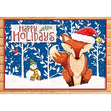 Lang Holiday Fox Petite Christmas Cards Full Colour Artwork Inside & Out