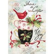 Lang – Boîte de petites cartes de Noël à illustrations en couleur à l'intérieur et à l'extérieur, thé des Fêtes