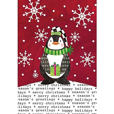 Lang Stocking Cap Penquin Petite Christmas Cards Full Colour Artwork Inside & Out