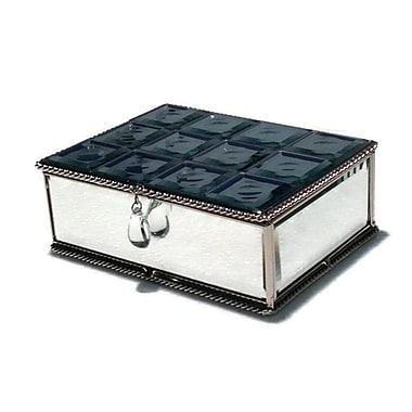 Elegance Multi-Faceted Mirrored Jewelry Box
