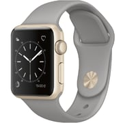 Apple – Montre Apple Watch Series 1, 38 mm, boîtier en aluminium or, bracelet sport bleu de minuit (MQ102CL/A)