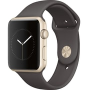 Apple – Montre Apple Watch Series 1, 42 mm, boîtier en aluminium or, bracelet sport bleu de minuit (MQ122CL/A)