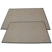 Cathay Importers - Tapis en vinyle, 4 pi x 6 pi, brun/beige, ens./2 (EC-05-0166-4X6)