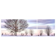"Cathay Importers Winter Trees Triptych Art, 24"" x 8"", 3 Panels (EC-24-0356)"
