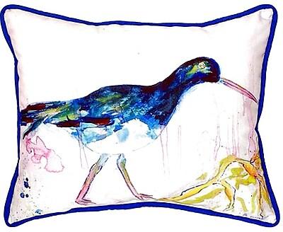 Betsy Drake Interiors Shore Bird Indoor/Outdoor Lumbar Pillow; Large