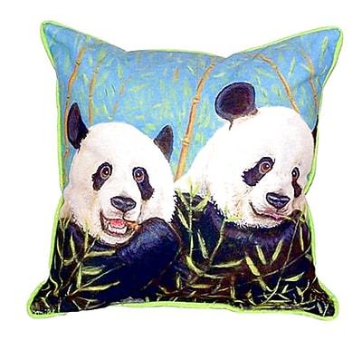 Betsy Drake Interiors Pandas Indoor/Outdoor Throw Pillow; Extra Large