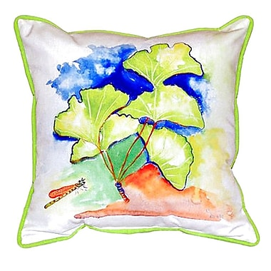 Betsy Drake Interiors Ginko Leaves Indoor/Outdoor Throw Pillow; Large