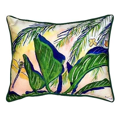 Betsy Drake Interiors Elephant Ears Indoor/Outdoor Lumbar Pillow; Large