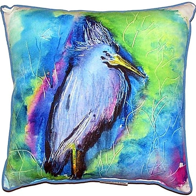 Betsy Drake Interiors Little Heron Indoor/Outdoor Throw Pillow; Small