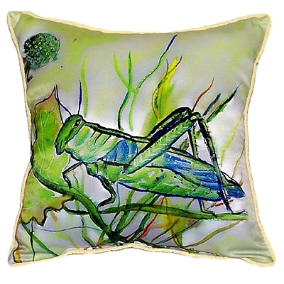Betsy Drake Interiors Grasshopper Indoor/Outdoor Throw Pillow; Small