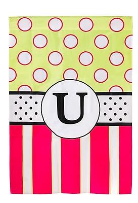 Evergreen Enterprises, Inc Reg, New Baskerville Peppy Monogram 2-Sided Garden Flag; U