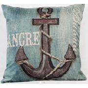 Lillowz Anchor/Ancre 100pct Cotton Throw Pillow