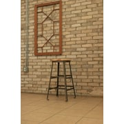MontisaWork High Angle Steel Wood Seat 30'' Bar Stool; Raw Steel