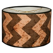 RoyalDesigns Two-Tone Chevron Designer Hard Back 10'' Paper Drum Lamp Shade