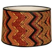 RoyalDesigns Chevron Designer Hard Back 10'' Paper Drum Lamp Shade