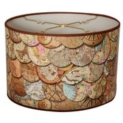 RoyalDesigns Vintage Maps Designer Hard Back 10'' Paper Drum Lamp Shade
