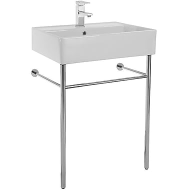 Scarabeo by Nameeks Teorema 23.6'' Console Bathroom Sink w/ Overflow; No Hole