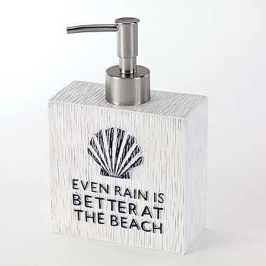 Avanti Linens Beach Words Soap & Lotion Dispenser