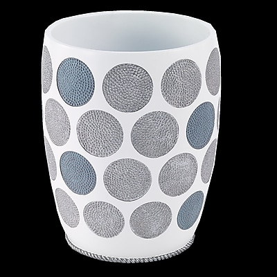 Avanti Linens Dotted Circles Waste Basket