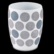 Avanti Linens Dotted Circles Resin Trash Can