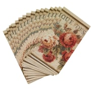 Avanti Linens Parisian Flowers Guest Paper Towel Napkin (Set of 16)