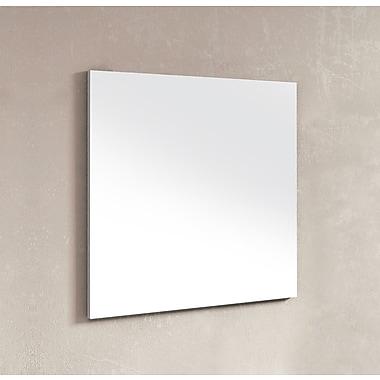 Dawn USA Wall Mounted Frameless Wall Mirror; 27.5'' H x 32'' W x 1.06'' D