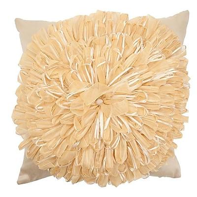 R&MIndustries Ribbon Flower Throw Pillow